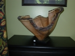 Mesquite scultped vessel  #37