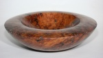 Red gum burl bowl