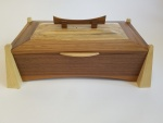 Walnut, ash and maple keepsake box
