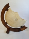 walnut and sliver maple sculpture