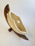 walnut and silver maple sculpture