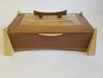 Walnut, ash and maple keepsake box